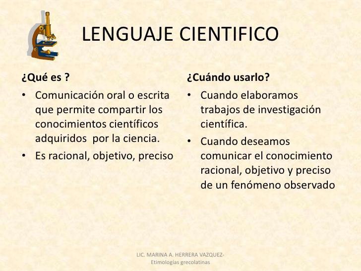 Lenguaje científico y técnico
